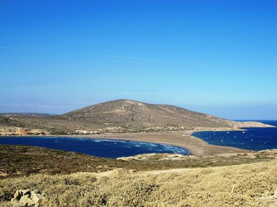 'Looking back from Prasonisi - Southern Tip of Rhodes' - Rodi